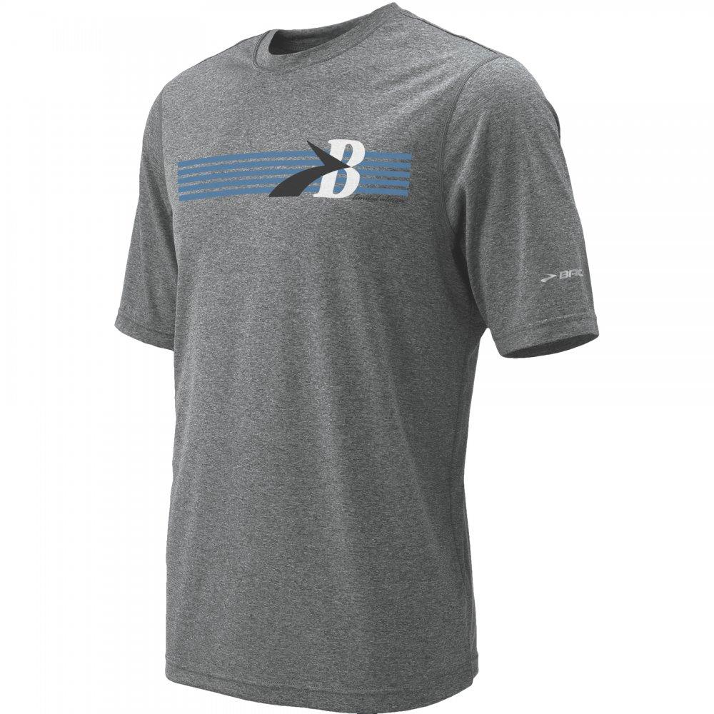 heritage running t shirt mens grey blue at