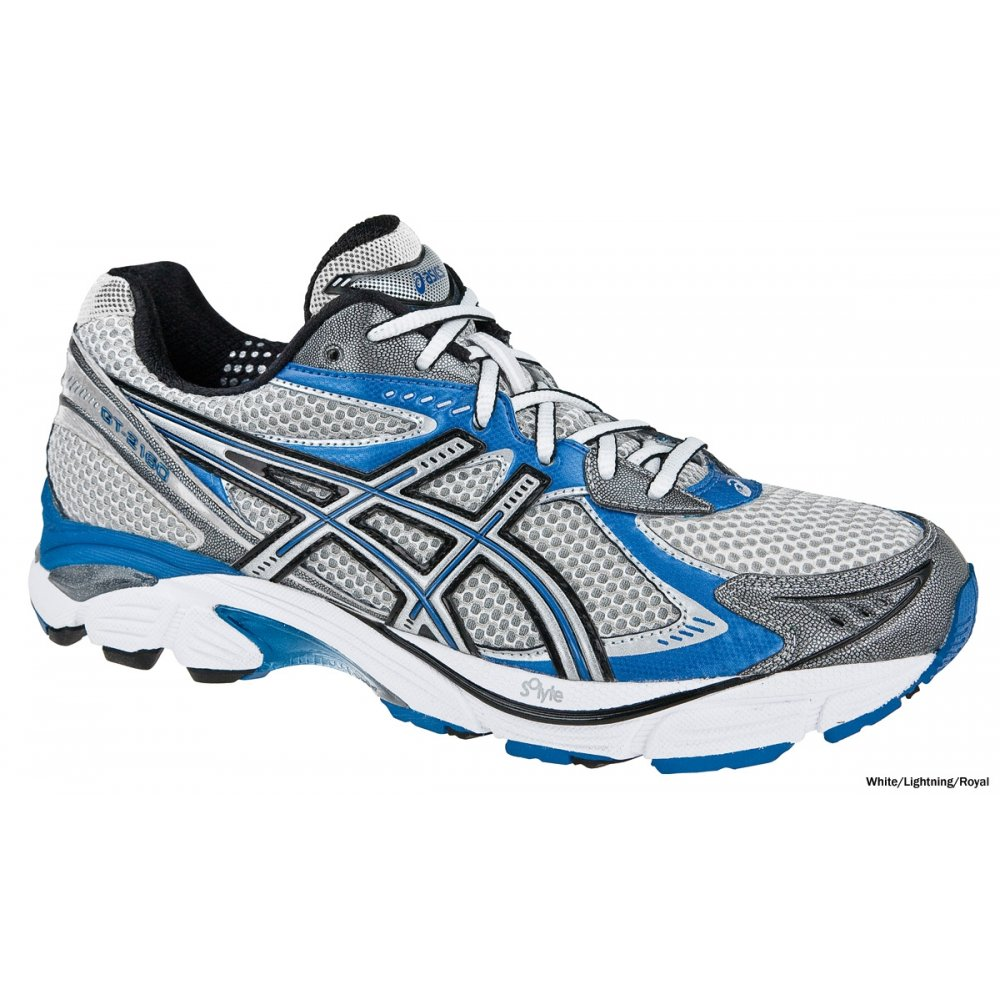 GT-2160 Road Running Shoes White/Royal Blue Mens At