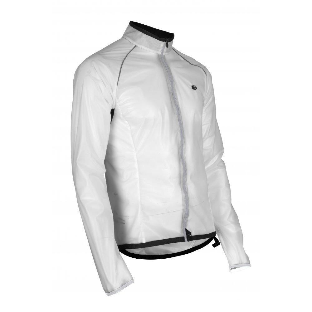 HydroLite Waterproof Mens Running Jacket White/Smoke at ...