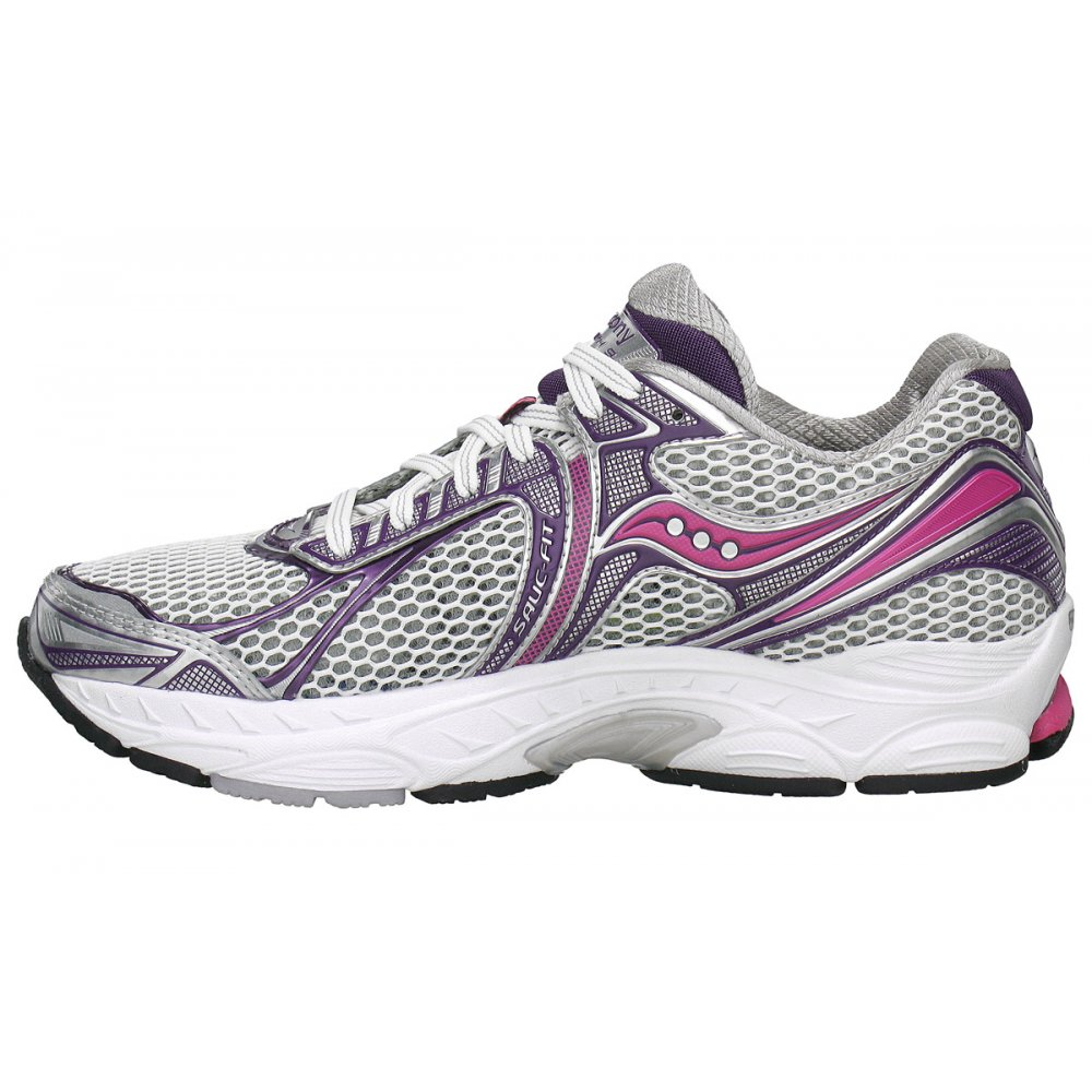 powergrid triumph 9 road running shoes white purple pink