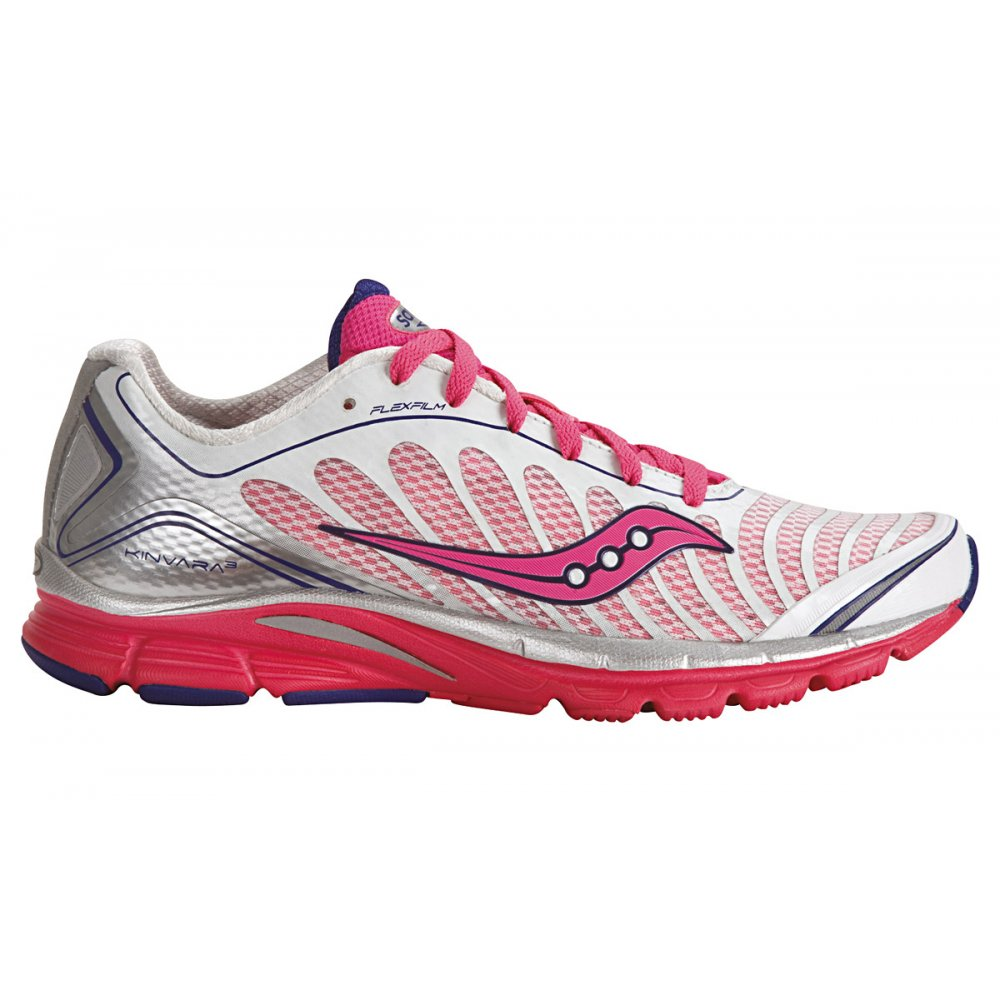 Home / Saucony ProGrid Kinvara 3 Road Running Shoes White/Pink Women s