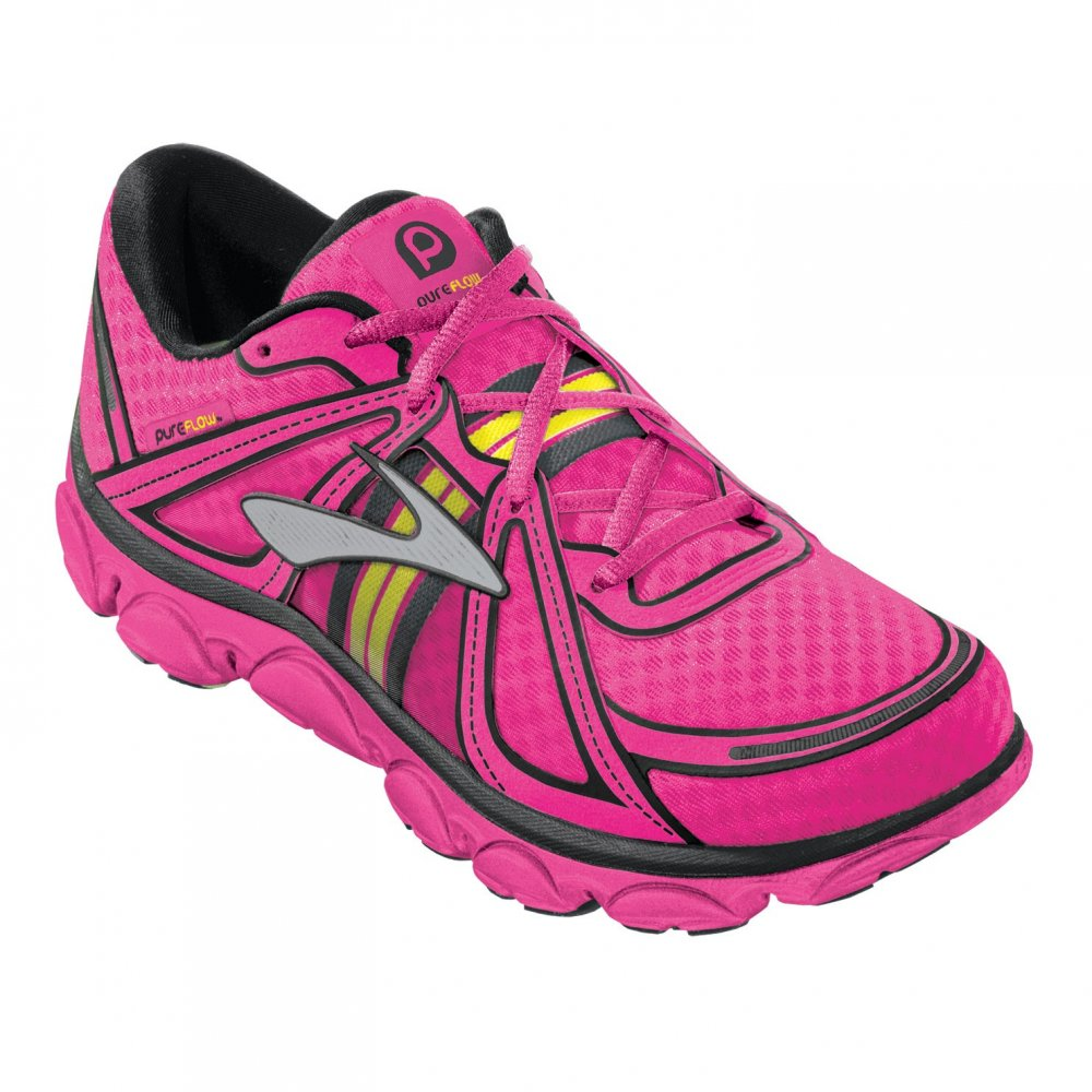 ... Brooks Pure Flow Minimalist Road Running Shoes KnockoutPink/Pinkglo/Black  Kids