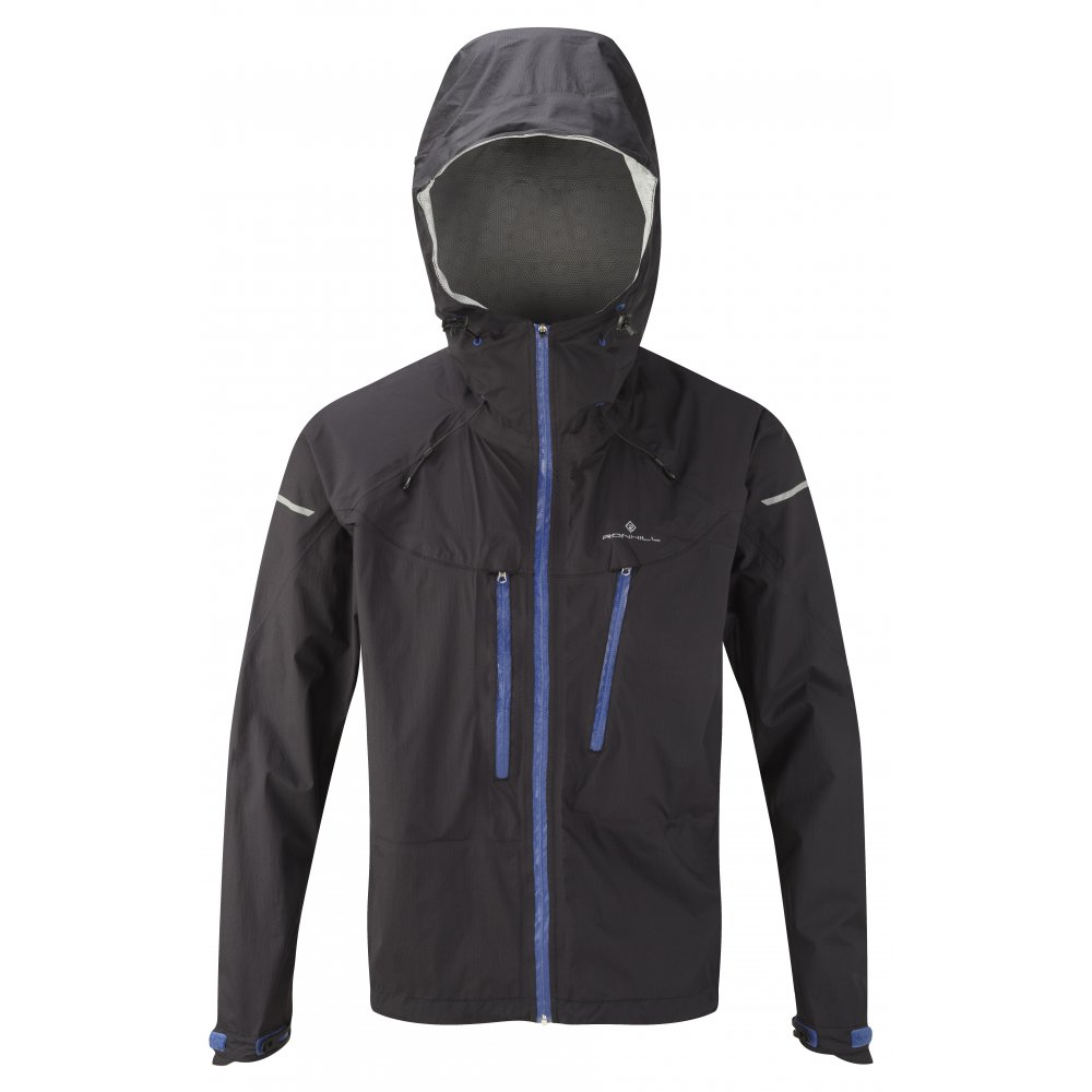 Trail Tempest Waterproof Running Jacket Black/Pacific Mens at ...