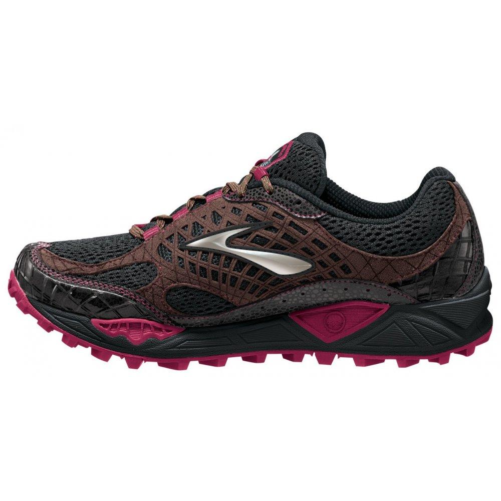 ... Brooks Cascadia 7 Trail Running Shoes Black/ShoppingBag/Cerise Women's  ...