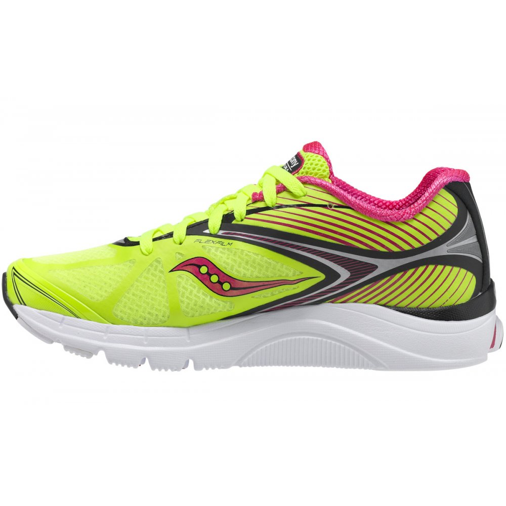 ... Saucony Kinvara 4 Minimalist Road Running Shoes Citron/Black/Pink  Women's ...