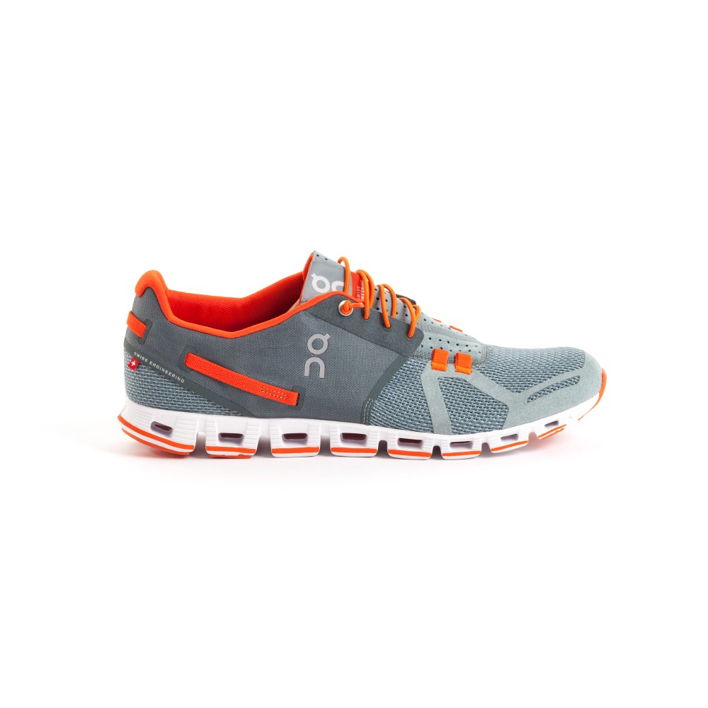 Cloud Road Running Shoes Olive/Flame Mens at ...