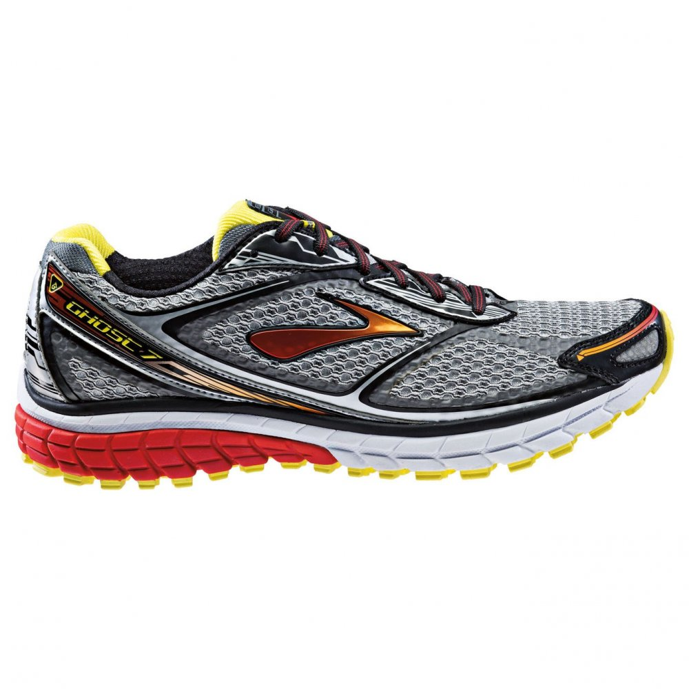 Ghost 7 Road Running Shoes Silver/Black/Red (D WIDTH ...