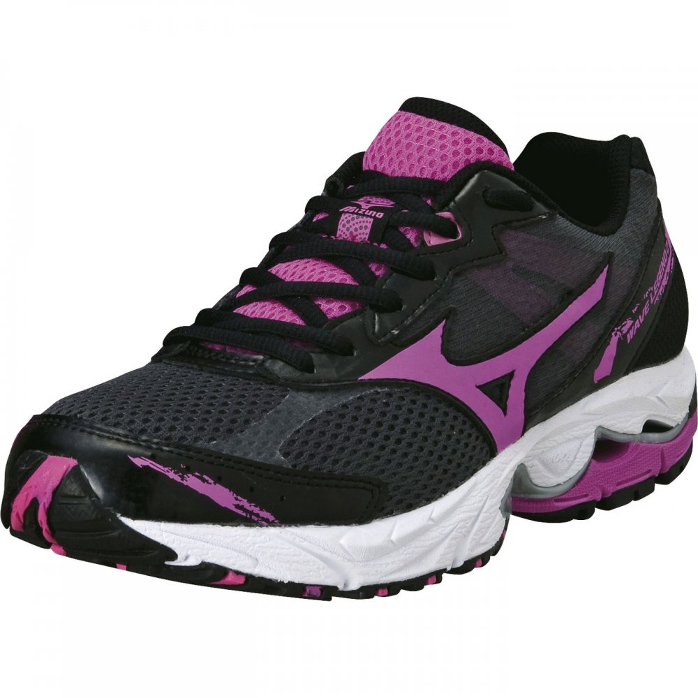 mizuno wave legend 2 womens road running shoes black pink