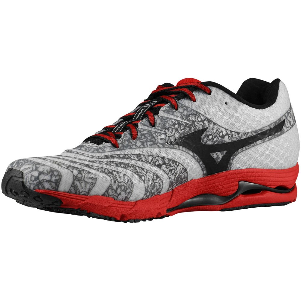 ... Mizuno Wave Sayonara 2 White/Black/Chinese Red Mens