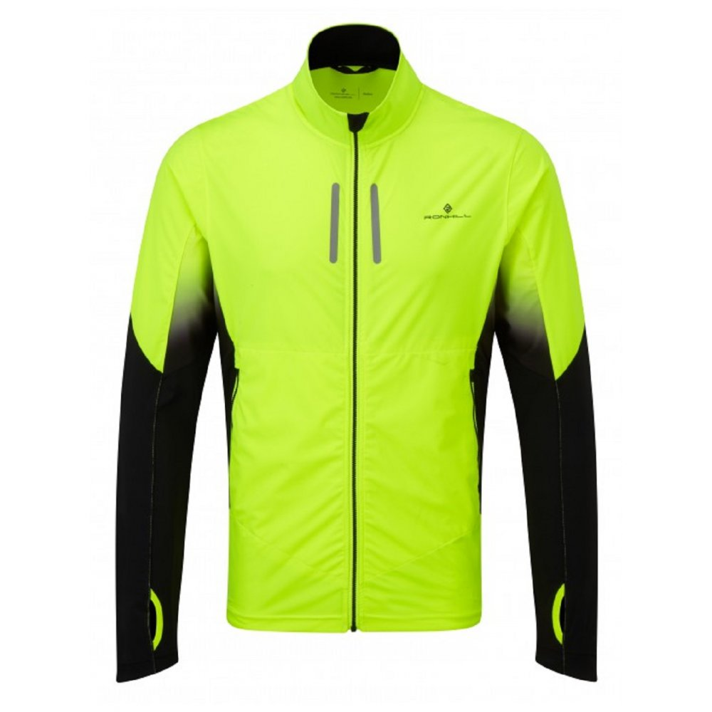 Buy Ronhill Vizion Mistral Jacket in Yellow and Black for Men