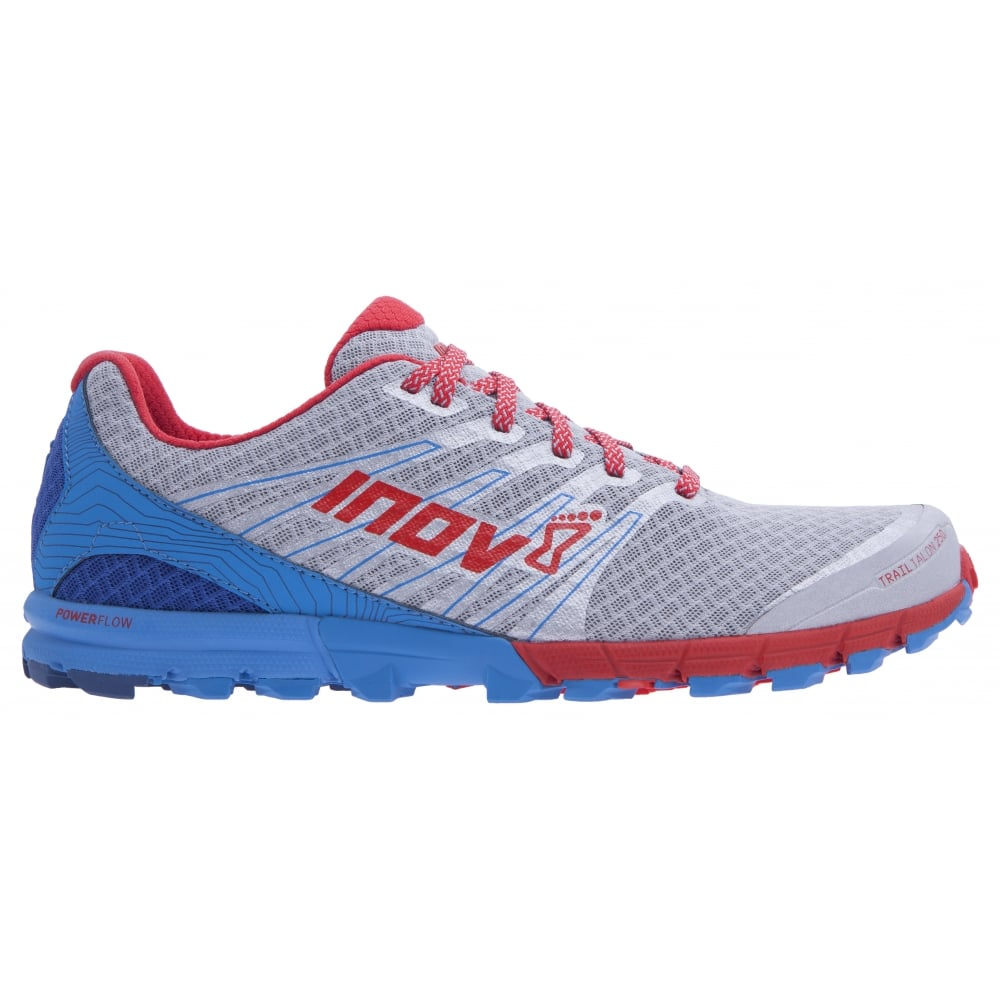 Inov8 TrailTalon 250 STANDARD FIT Mens Trail Running Shoes Silver/Blue/Red