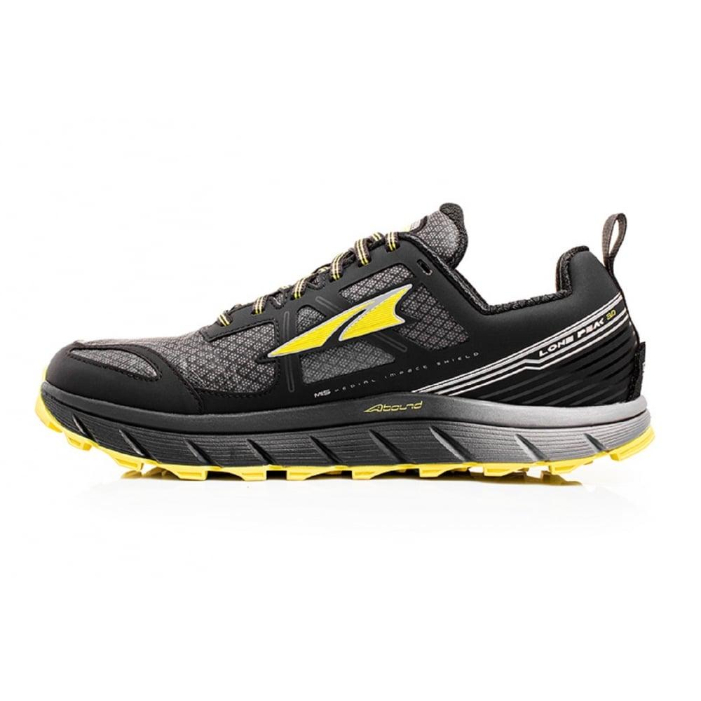... Altra Lone Peak 3.0 Neoshell Low Mens Trail Running Shoes Black/Yellow  ...