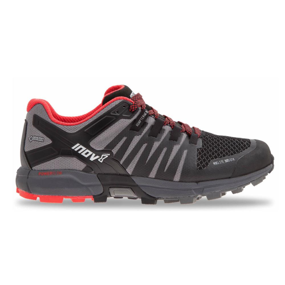 Inov8 Roclite 305 GTX Mens MEDIUM FIT Trail Running Shoes Grey/Black