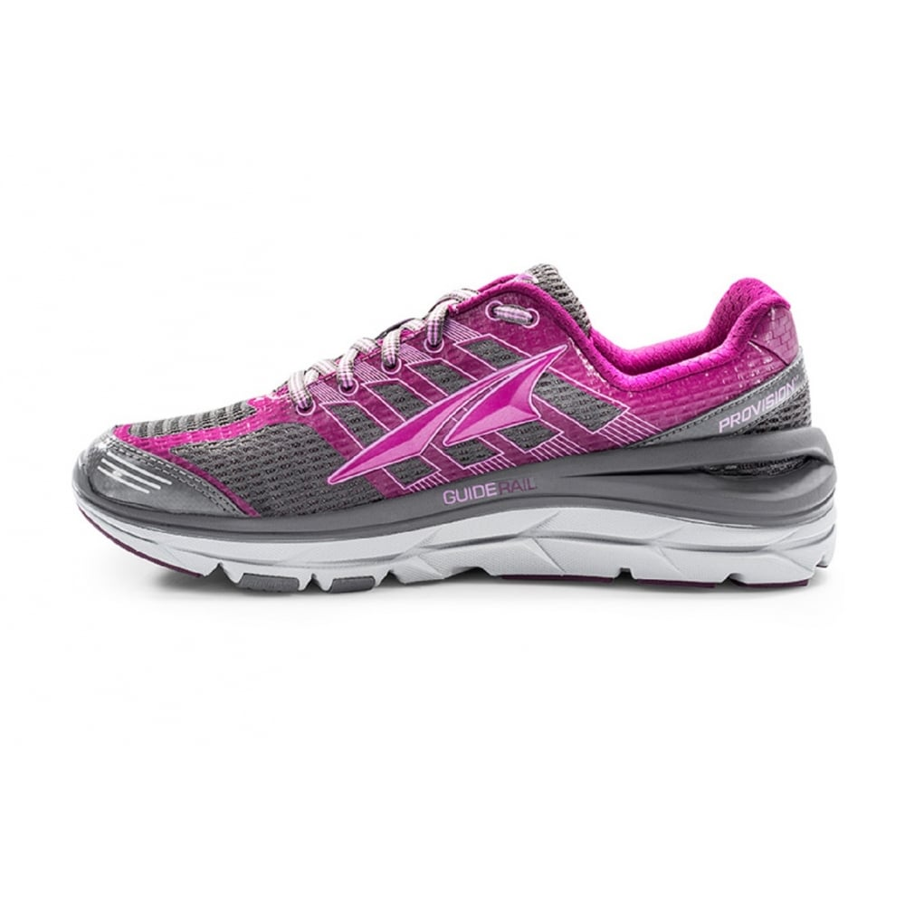 ... Altra Provision 3.0 Grey/Purple Zero Drop Womens Road Running Shoes ...