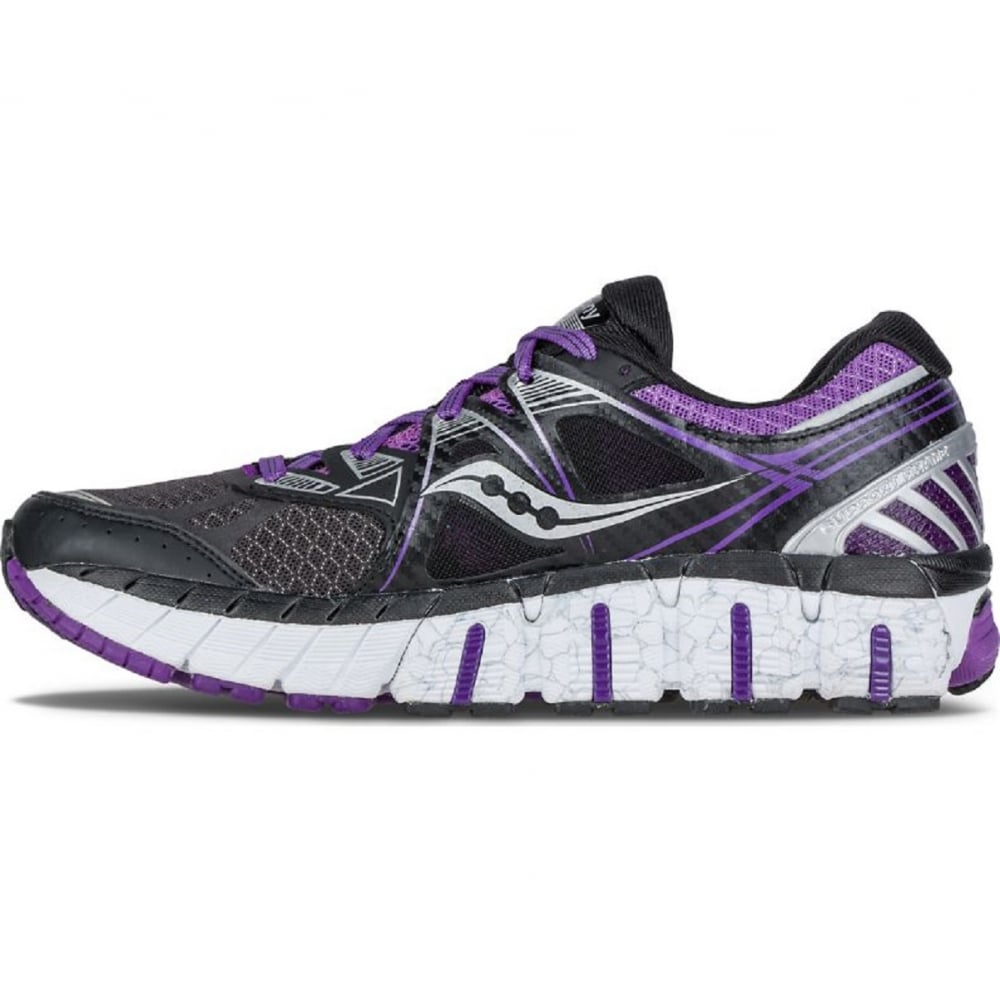 ... Saucony Redeemer ISO Road Running Shoes Black/Purple Womens ...