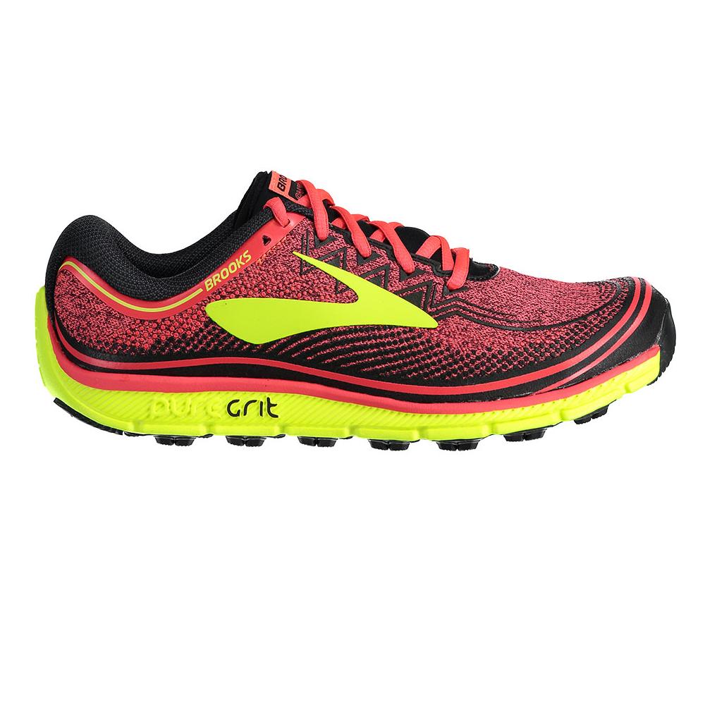 Brooks PureGrit 6 Womens B (STANDARD WIDTH) Trail Running Shoes Diva  Pink/Nightlife