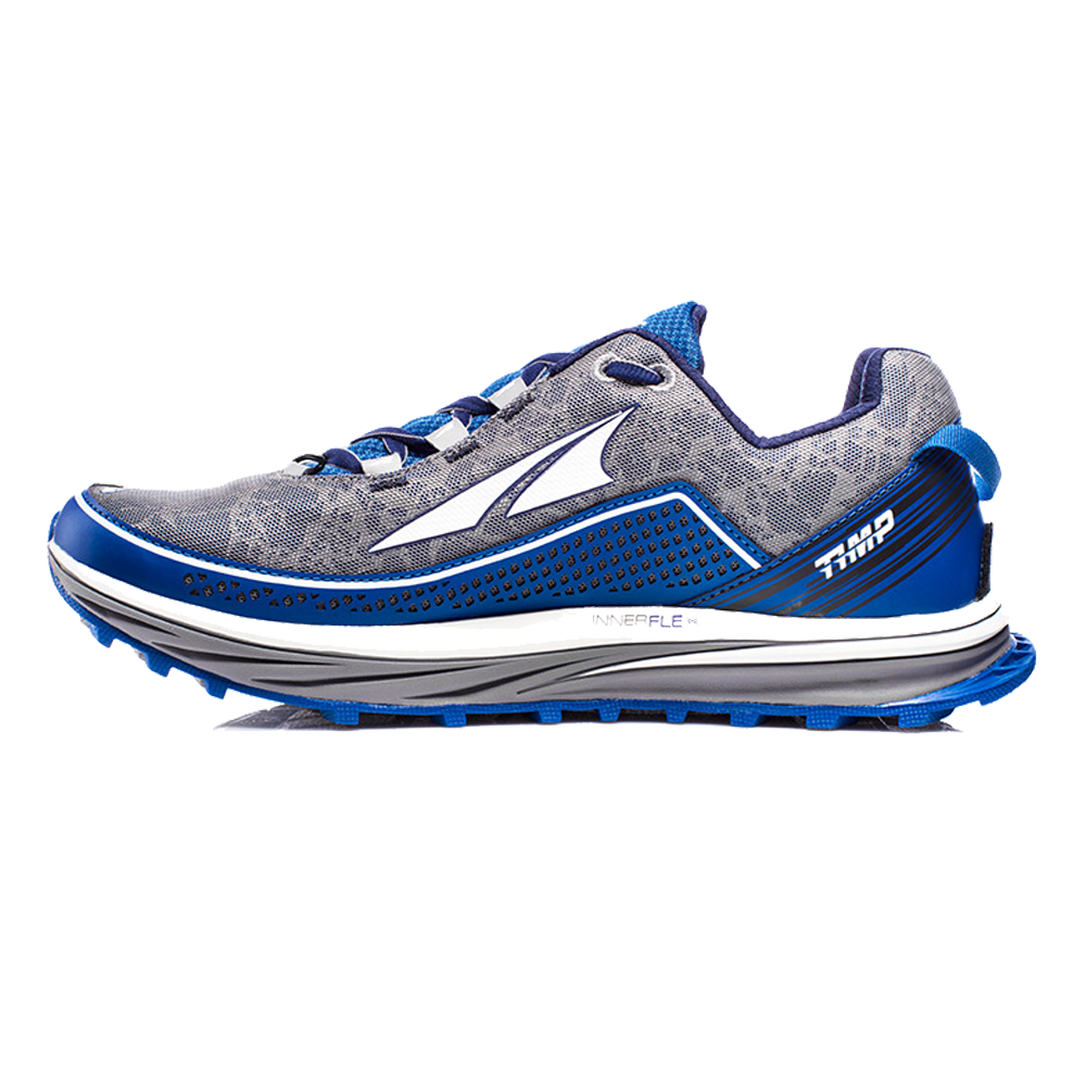 Timp Mens Zero Drop Trail Running Shoes Blue at
