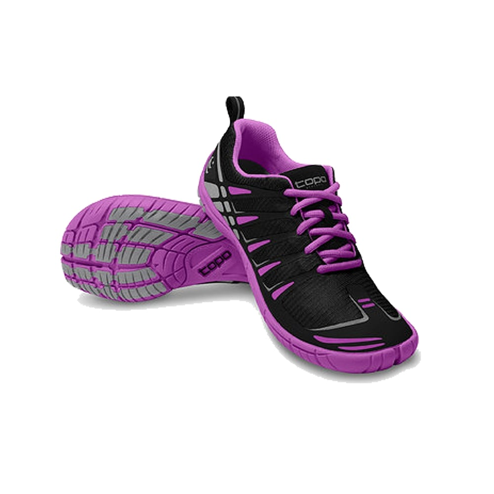 ST Womens Road Running Shoes Black/Grape