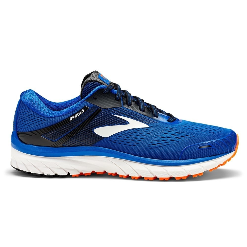 Brooks Adrenaline GTS 18 Mens 2E WIDE Road Running Shoes Blue/Black/Orange