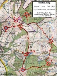 Gribdale Gallop Map