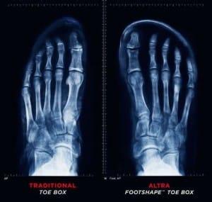 Foot Shaped Toe Box