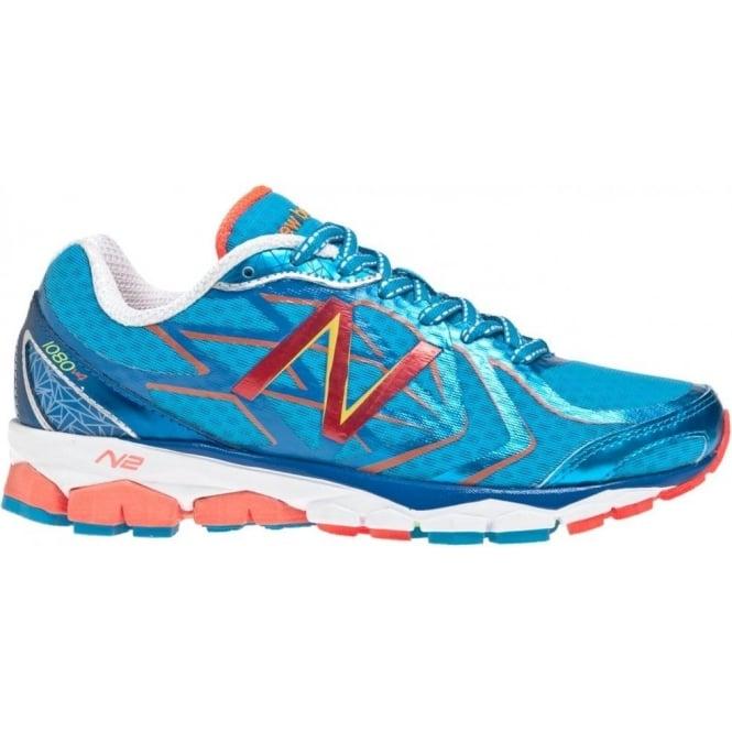 2ae15dce26befc 1080 V4 Road Running Shoes Blue White Women s (B WIDTH - STANDARD ...