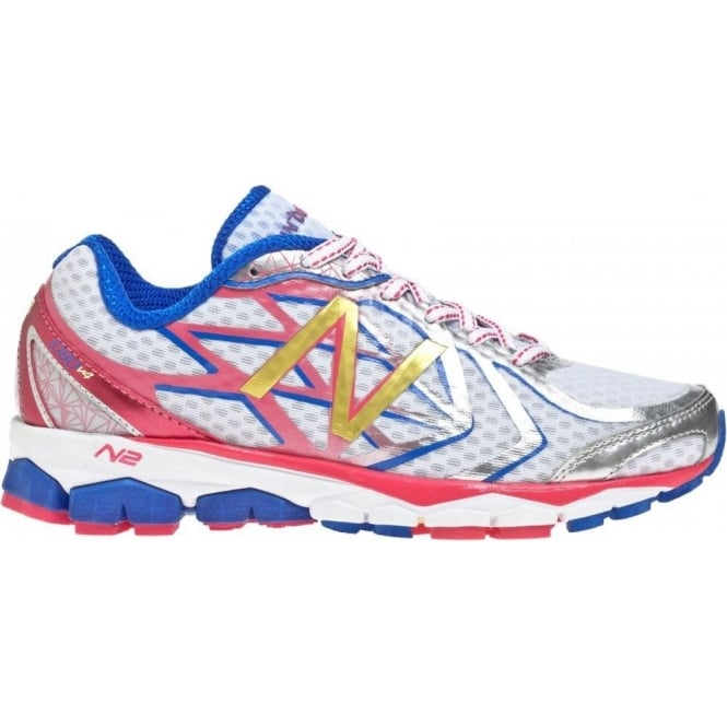 97f9fe1f439969 1080 V4 Road Running Shoes White Pink (B WIDTH - STANDARD) Womens at ...