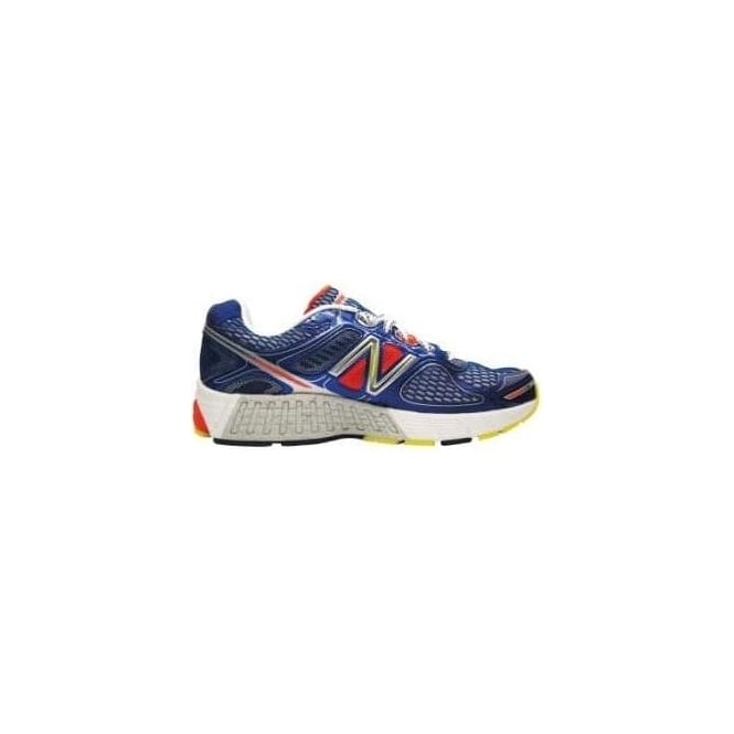 New Balance 860 V4 Road Running Shoes BlueOrange (D WIDTH STANDARD) Mens