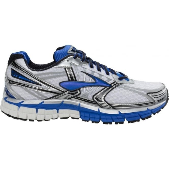 wholesale dealer cc3dd b1939 Adrenaline GTS 14 Road Running Shoes White Electric Silver (2E WIDTH - WIDE