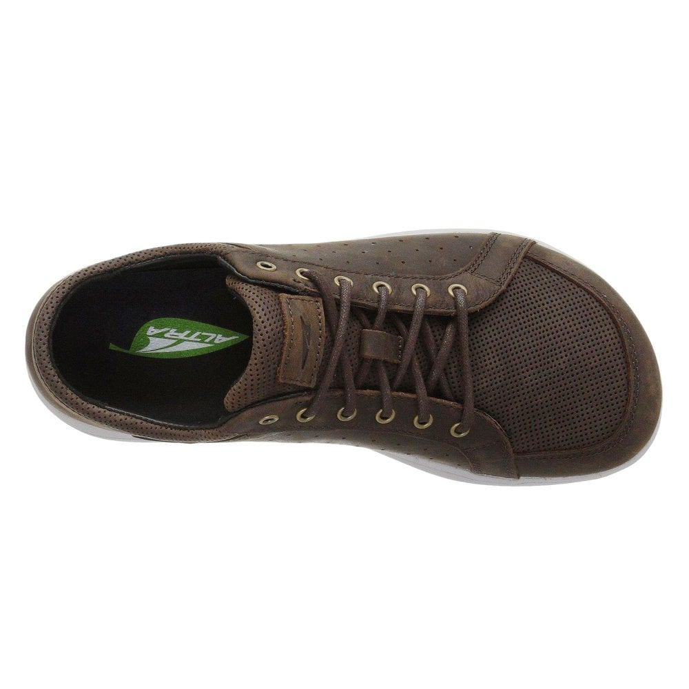 Cayd Mens Zero Drop Foot Shape Leather Casual Shoes Brown At Northernrunner Com