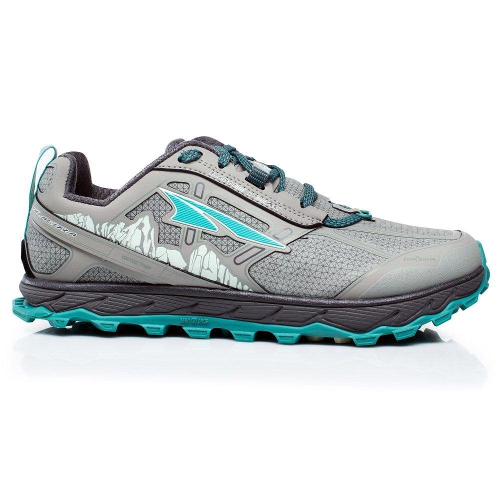 outlet store ea8a6 59712 Lone Peak 4 Low RSM (Waterproof) Womens ZERO DROP Trail Running Shoes  Grey/Green