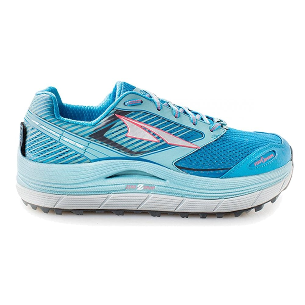 Olympus 2.5 Womens Zero Drop Trail Running Shoes Blue at