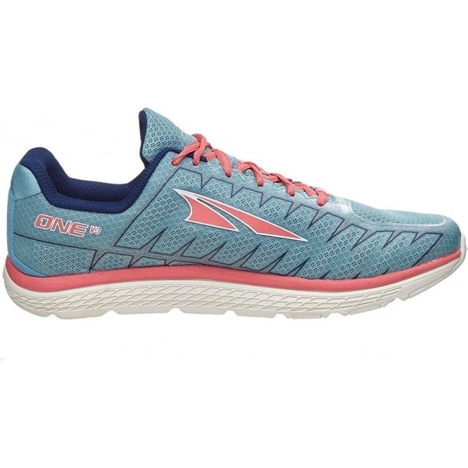 23b68669a8fc One V3 Womens Zero Drop Road Running Shoes Blue Coral at ...