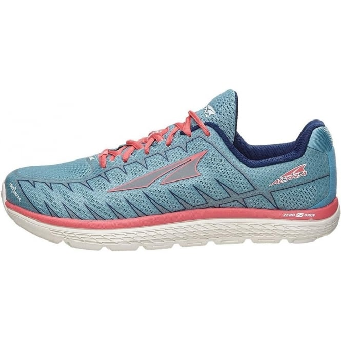 new style 691d1 7c0c9 One V3 Womens Zero Drop Road Running Shoes Blue/Coral