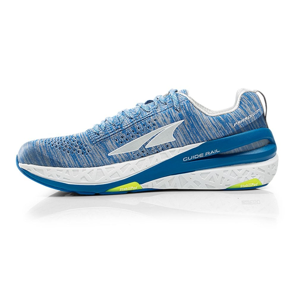 new style 5a059 53569 Paradigm 4 Mens ZERO DROP HIGH CUSHIONING Road Running Shoes White/Blue