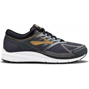 d789ee14cc42d Addiction 13 Mens D STANDARD WIDTH Road Running Shoes Black Ebony Metallic  Gold