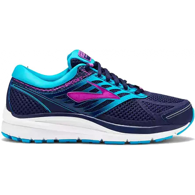 Addiction 13 Womens D Width Wide Road Running Shoes Evening Blue Teal Victory Purple