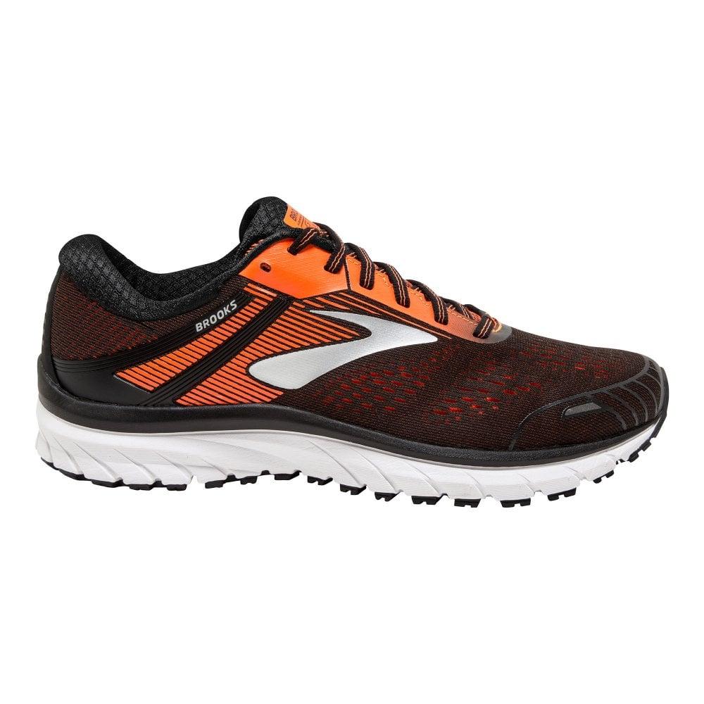 df3de60a50db6 Adrenaline GTS 18 D WIDTH STANDARD FIT Mens Road Running Shoes  Black Orange Ebony