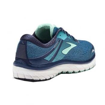 quality design 8e586 ddbd0 Brooks Adrenaline GTS 18 Womens D WIDTH WIDE Road Running Shoes  Navy/Teal/Mint