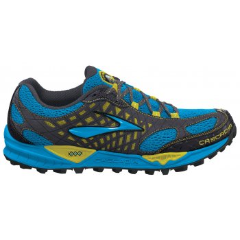 85d5af7e50aa4 Cascadia 7 Trail Running Shoes Euroblue Citron Anthracite Mens at ...