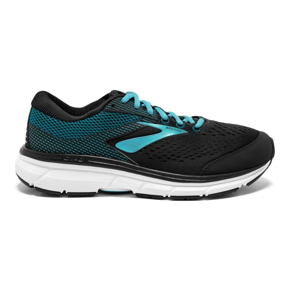 Dyad 10 Womens D Width WIDE Lightweight CUSHIONED Road Running Shoes  Black Green 9336200cb
