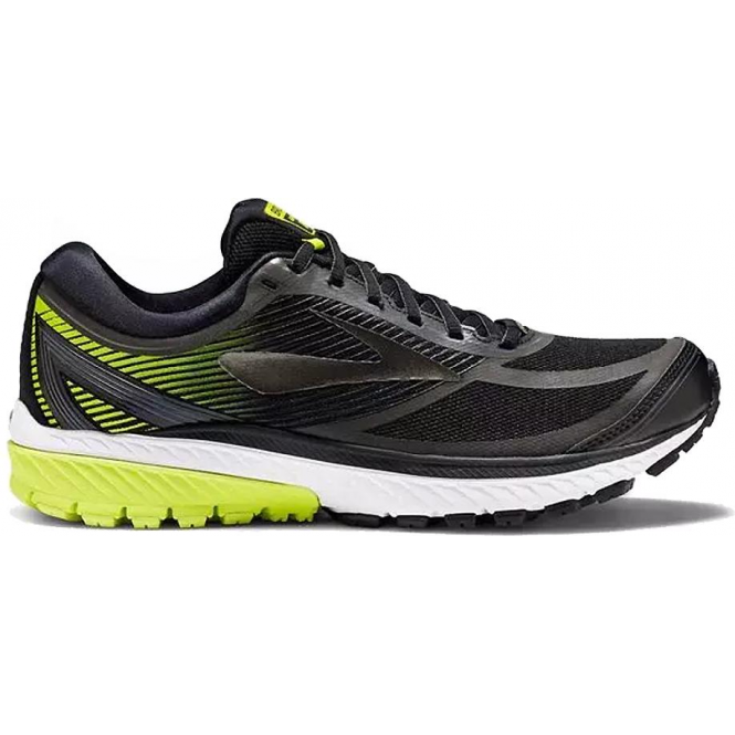 5f4c98ee559db Ghost 10 GTX Mens D STANDARD WIDTH Road Running Shoes Black Ebony Lime  Popsicle