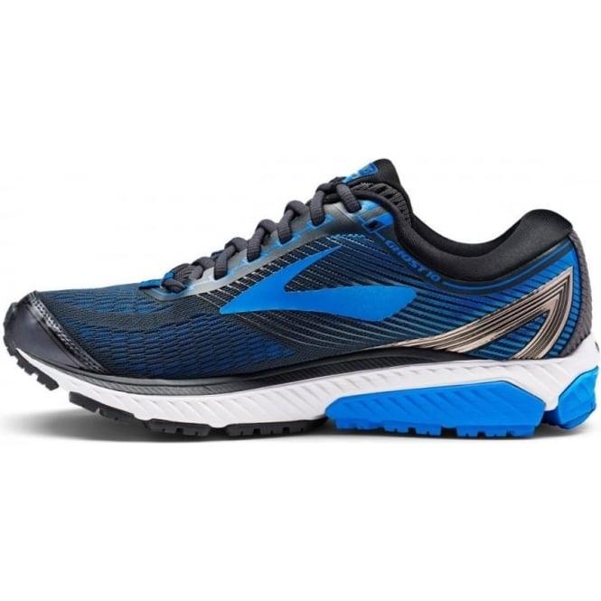 d0a56f211792a Ghost 10 Mens 2E (WIDE WIDTH) Road Running Shoes Ebony Metallic Charcoal