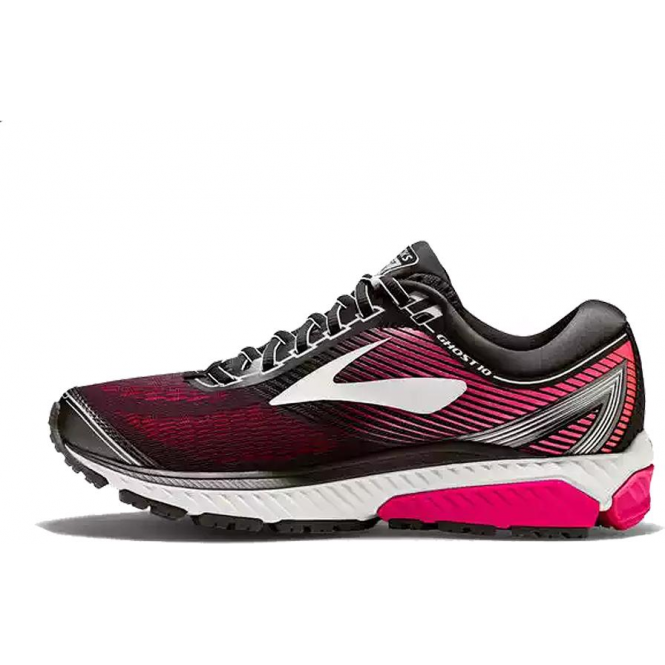 bf8cd334c2d Ghost 10 Womens D (WIDE WIDTH) Road Running Shoes Black Pink Peacock ...