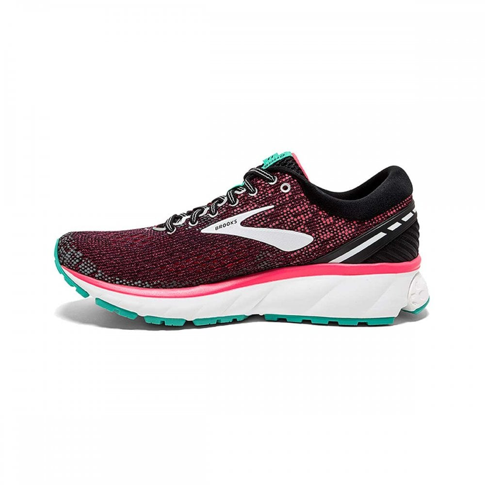 54cc0dd63a757 Ghost 11 Womens D WIDTH (WIDE) HIGH CUSHIONING Road Running Shoes Black Pink