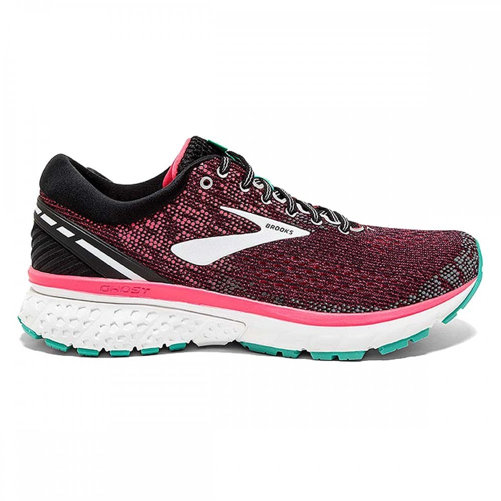 e79647f69f8 Ghost 11 Womens D WIDTH (WIDE) HIGH CUSHIONING Road Running Shoes Black Pink