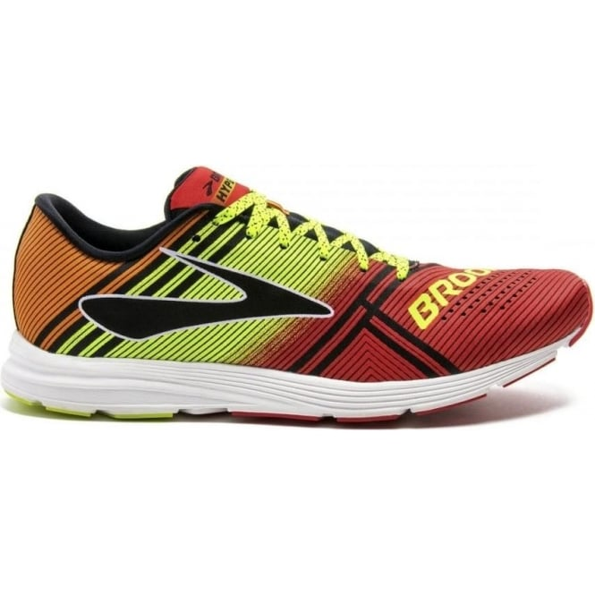 f990bddf5afe3 The Brooks Hyperion Racing Shoe for Men in Red Yellow and Orange at ...