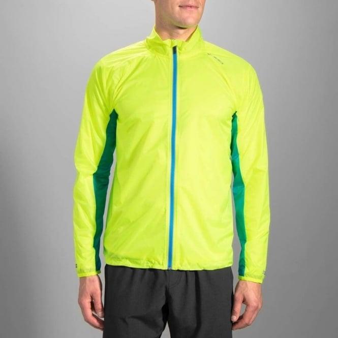 Brooks LSD Mens Running Jacket Lightweight Windproof Water Resistant Sports Coat