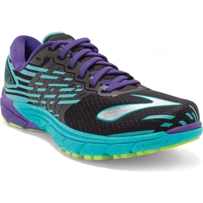 e87b3846b00 The Brooks Pure Cadence 5 in Black and Blue for Women at ...