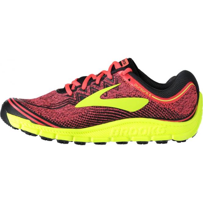 3a35787d188 PureGrit 6 Womens B (STANDARD WIDTH) Trail Running Shoes Diva Pink  Nightlife